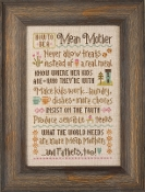 Lizzie Kate How To Be A Mean Mother Counted cross stitch pattern chart