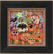 Mill Hill Autumn Series Painted Pumpkins Halloween beaded counted cross stitch kit