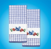 Tobin Home Crafts - Bluebird Towels stamped for embroidery