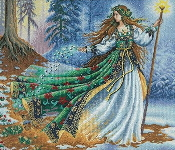 Dimensions Counted cross stitch picture kit - Woodland Entrantress