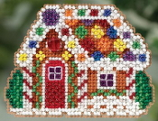 Mill Hill Winter Holiday collection Gingerbread Cottage MH18-5305 Christmas Ornament counted cross stitch kit with treasure