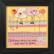 Mill Hill Curly Girl Design - Old Friends inspirational beaded counted cross stitch kit