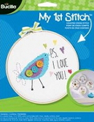 Bucilla Counted cross stitch beginners kit - PS I Love You Bird