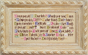 Lizzie Kate ABCs of Aging Artfully Counted cross stitch Pattern and Threads