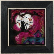 Mill Hill Autumn Series Moonstruck Halloween beaded counted cross stitch kit