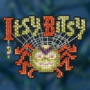 Mill Hill Autumn Harvest collection Itsy Bitsy Spider Halloween counted cross stitch ornament kit