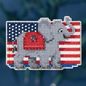 Mill Hill Autumn Harvest collection Patriotic Red counted cross stitch ornament kit