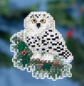 Mill Hill Winter Holiday collection Snowy Owlet MH18-1633 Christmas Ornament counted cross stitch kit