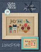 Lizzie Kate Double Flip, July August Yearbook Series Counted cross stitch pattern chart with charms