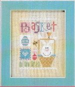 Lizzie Kate Basket Celebrate with charm Series Easter Counted cross stitch pattern chart