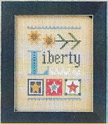 Lizzie Kate Liberty Celebrate with charm Series Counted cross stitch pattern chart