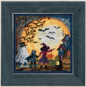 Mill Hill Autumn Series Moonlit Treaters Halloween beaded counted cross stitch kit