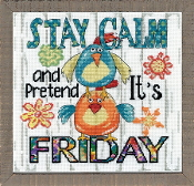 Design Works Stay Calm counted cross stitch picture kit
