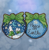 Mill Hill Sticks Peace on Earth Christmas counted cross stitch ornament kit