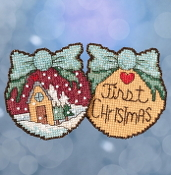 Mill Hill Sticks First Christmas counted cross stitch ornament kit