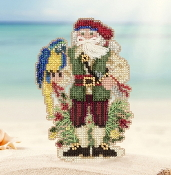 Mill Hill Caribbean Trinidad Santa MH20-1732 Christmas Ornament beaded counted cross stitch kit