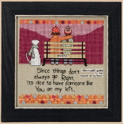 Mill Hill Curly Girl Design - On My Left inspirational beaded counted cross stitch kit