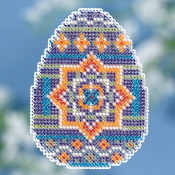 Mill Hill Spring Bouquet Collection Medallion Egg Easter beaded counted cross stitch ornament kit
