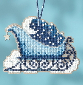 Mill Hill Sleigh Ride Charmed Ornaments Celestial Sleigh MH16-1731 Christmas Ornament counted cross stitch kit