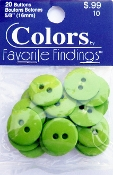 Colors Favorite Findings Lime Buttons
