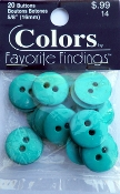 Colors Favorite Findings Turquoise Buttons