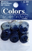 Colors Favorite Findings Navy Buttons