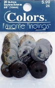 Colors Favorite Findings Taupe Buttons