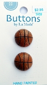 Buttons by La Mode - Basketballs