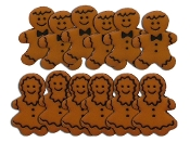 Dress It Up Gingerbread People buttons - Scrapbooking, crafts, sewing