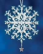 Mill Hill Star Crystal Christmas Ornment counted cross stitch kit