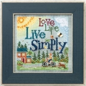 Mill Hill Spring Series Live Simply beaded counted cross stitch kit