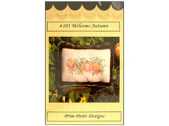 Prim-Point Designs Welcome Autumn hand embroidery pattern