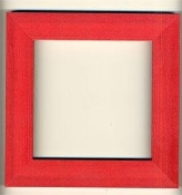 Mill Hill wooden Frame GBFRM9 Holiday Red
