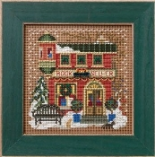 Mill Hill Winter Series - Book Seller Beaded counted cross stitch kit