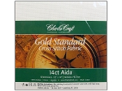Charles Craft Gold Standard 14 count White Aida counted cross stitch fabric