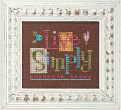 Lizzie Kate Quick-It Live Simply counted cross stitch chart pattern