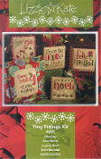 Lizzie Kate Tiny Tidings XV counted cross stitch chart and embellishments
