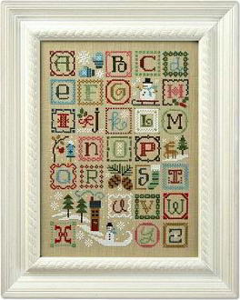 Lizzie Kate Winter Alphabet 151 counted cross stitch sampler pattern