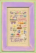Lizzie Kate Easter Sampler counted cross stitch chart with charms