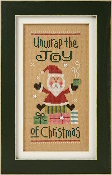 Lizzie Kate Unwrap the Joy Cross Stitch Chart and Embellishments