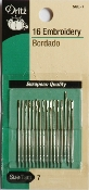 Dritz Size 7 Embroidery Needles - 16 per package