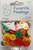 Favorite Findings Primary Flat Back Sewing Buttons
