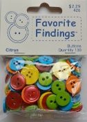 Favorite Findings Citrus Flat Back Sewing Buttons