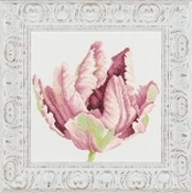 Lanarte - Tulip in Close-up, Counted cross stitch picture kit
