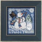 Mill Hill Winter Series - Frosty Snowman Beaded Counted Cross Stitch kit