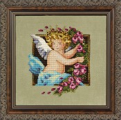 Mirabilia Designs - 2012 Holiday Cherub Free counted cross stitch kit