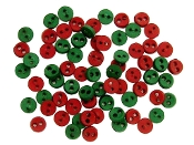 Dress It Up Micro Mini Round Red & Green buttons for crafts, scrapbooking, sewing