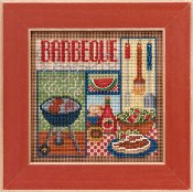 Mill Hill Spring Series Barbeque beaded counted cross stitch kit