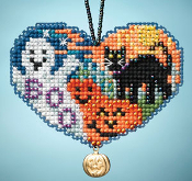 Mill Hill I Love Halloween charmed ornament beaded counted cross stitch kit