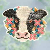 Mill Hill Sprin Collection, Elsie Cow counted cross stitch kit